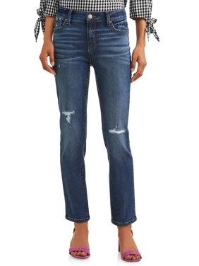 Women's Mid Rise Straight Jean
