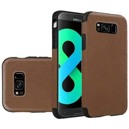 Samsung Galaxy S8 Plus Case, by Insten Leather Rubber TPU Case Cover For Samsung Galaxy S8 Plus S8+, Dark Brown - image 4 de 4