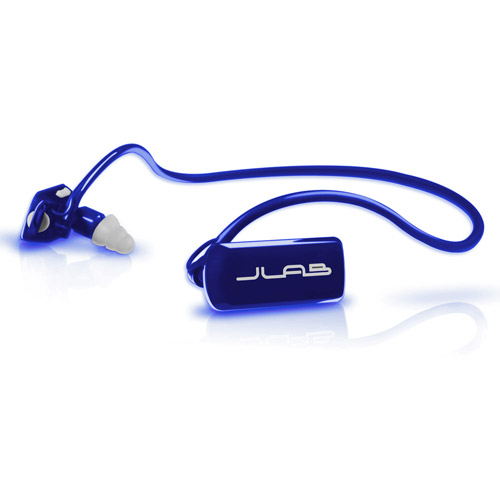 JLAB GO4GB-BS Go MP3 Player Headphones 4GB, Blue/Silver