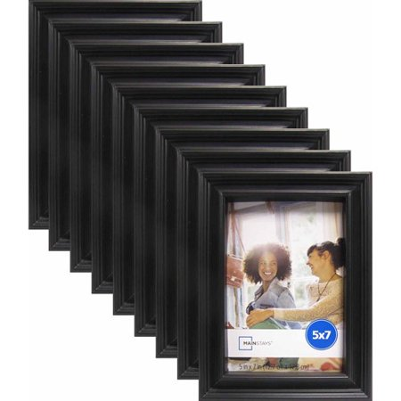 Mainstays Brooke 5 X 7 Black Frame Set Of 9 Walmartcom