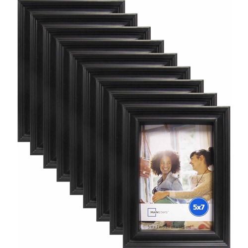 """Mainstays Brooke 5"""" x 7"""" Black Frame, Set of 9"""