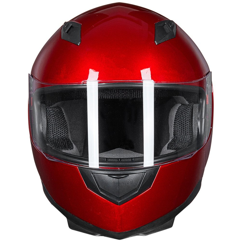 ILM Motorcycle Helmet Full Face with Removable Neck Scarf and Two Visors DOT Approved Motorcross Helmet from S to XL