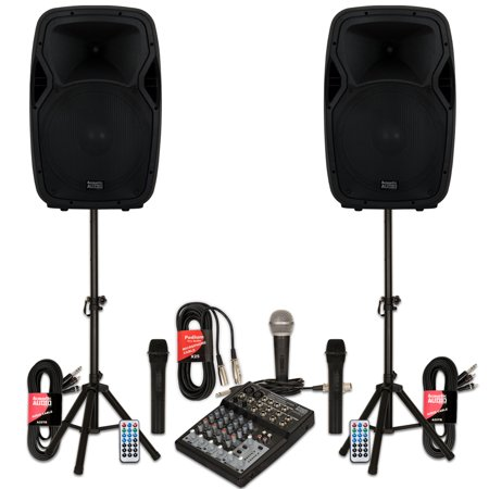- Acoustic Audio AA15BS Powered 2000 Watts 15