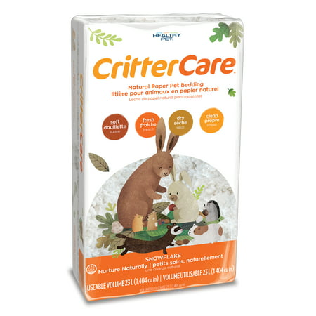 CritterCare Snowflake White Natural Paper Small Pet Bedding, 23L