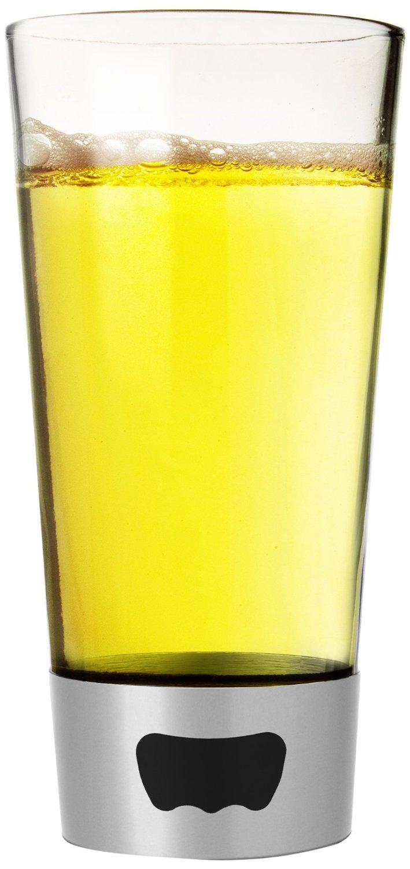Asobu Pint Glass Beer Mug with Beer Opener Base, 16 oz, Silver by Ad-N-Art