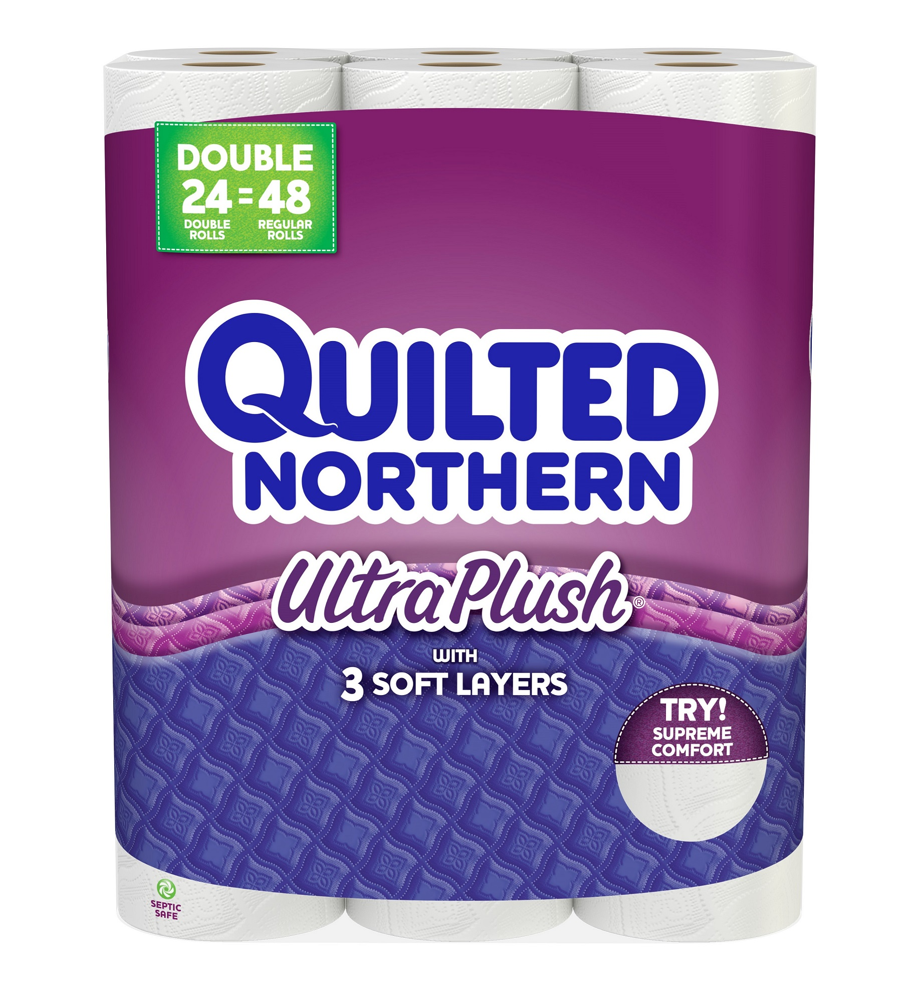 Quilted Northern Ultra Plush, 24 Double Rolls Toilet Paper, Bath Tissue