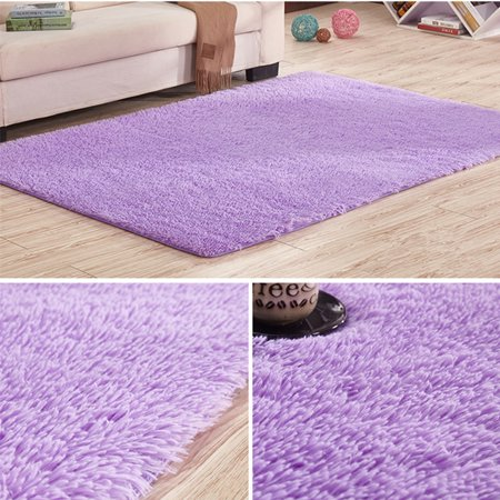 Meigar Fluffy Rugs Floor Mat Indoor Modern Shag Shaggy Area Silky Smooth Rugs Anti-Skid Rug Dining Room Home Bedroom Carpet Floor Mat Floor Couches - image 2 of 4