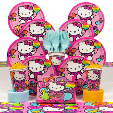 Hello Kitty Rainbow Deluxe Kit (Serves 8) - Party - Hello Kitty Party Supplies Party City