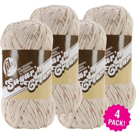 Lily Sugar'n Cream Yarn - Ombres Big Ball - Sonoma Print, Multipack of 4