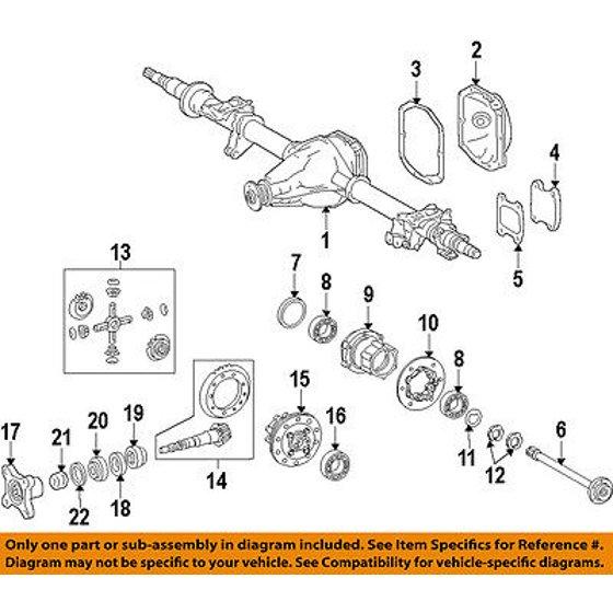 Dodge CHRYSLER OEM 07-09 Sprinter 2500 Rear Differential-Shim 68018935AA
