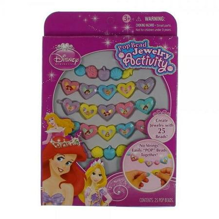 Disney Princess Pop Beads Jewelry 25ct Pack