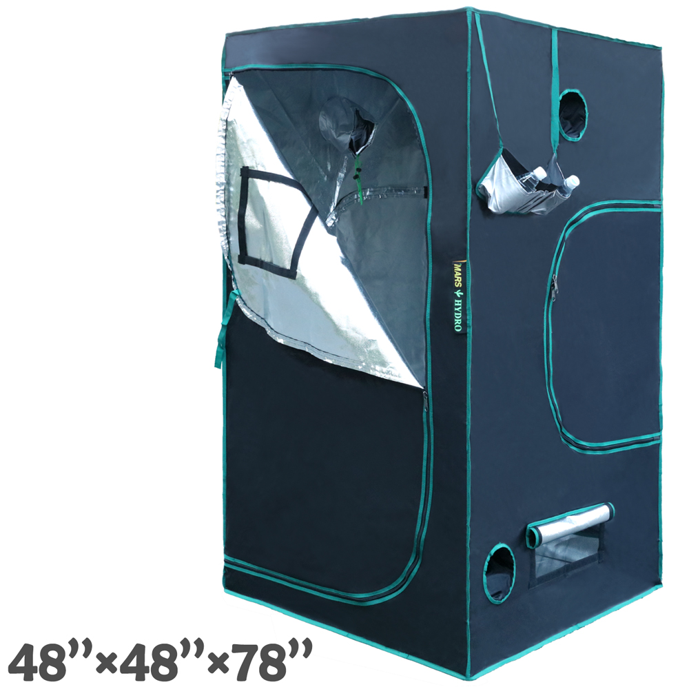 48u0027u0027x48u0027u0027x78u0027u0027 Indoor Grow Tent Hydroponics Dark Room Box Home Depot Clone Hut Cloning Seedling 100% Reflective Mylar Non Toxic Plant Greenhouse Growing ...  sc 1 st  Walmart.com & 48u0027u0027x48u0027u0027x78u0027u0027 Indoor Grow Tent Hydroponics Dark Room Box Home ...