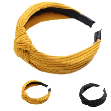 Boyijia Women Lady Bow Hair Hoop Girl Solid Color Soft Knotted Cloth Headband Hairband Head Decoration - image 4 of 8