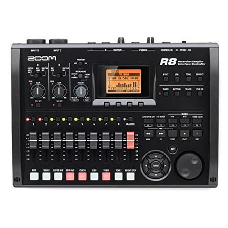 zoom r8 multitrack sd recorder controller and