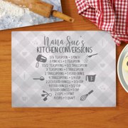 Personalized Her Kitchen Conversions Glass Cutting Board - Available in 4 Colros