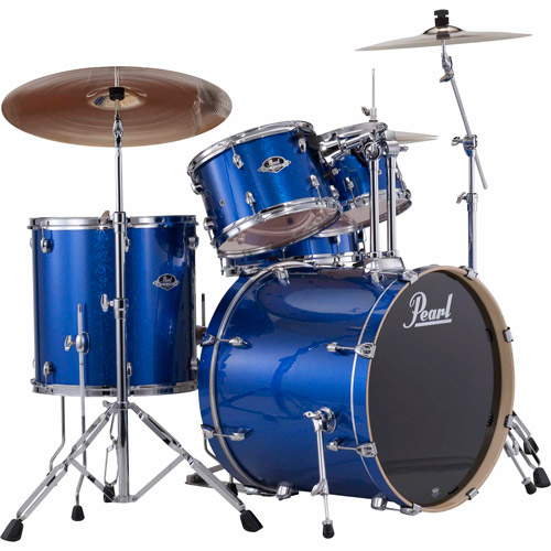 Pearl Export 5-Piece Drumset w/ Hardware - Electric Blue Sparkle
