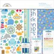"""Doodlebug Essentials Page Kit, 12"""" x 12"""", Anchors Aweigh"""