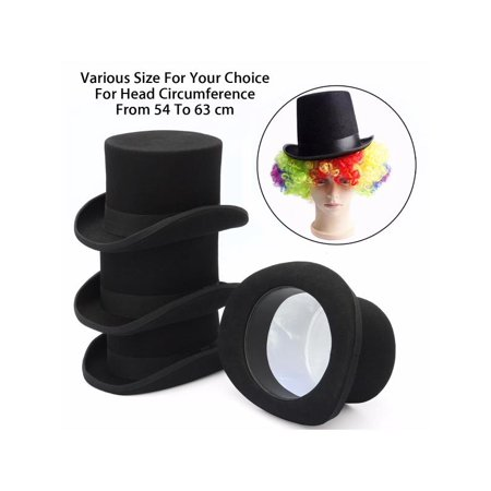 S-XL Size Unisex Adults Fashion Wool Victorian Top Hat Magic Performing Cap Costume Accessory - Top Hat Prop