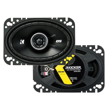 "43DSC4604 KICKER 4"" x 6"" Coaxial Speakers, Pair, 4-Ohm"