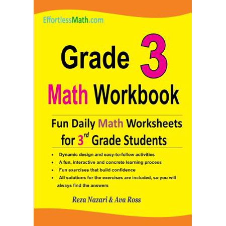 Grade 3 Math Workbook : Fun Daily Math Worksheets for 3rd Grade Students