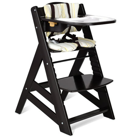 size 40 a08e0 a7738 Costway Baby Toddler Wooden Highchair Dining Chair Adjustable Height w/  Removeable Tray
