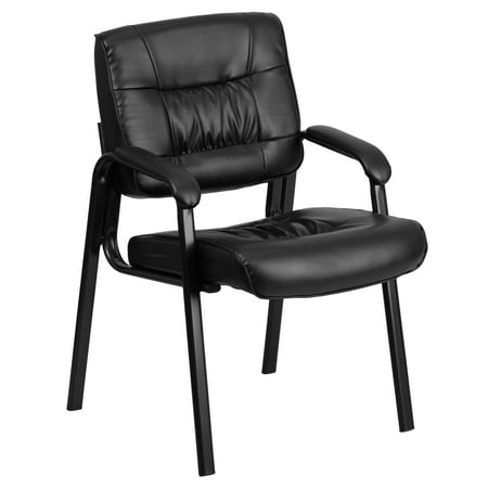 Leather Office Guest Chair - Leather Executive Guest Chair, Black