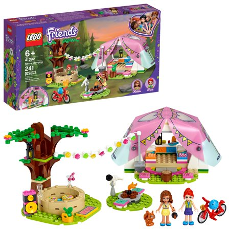 LEGO Friends Nature Glamping Building Kit; Includes LEGO Friends Mia, a Mini-Doll Tent and a Toy Bicycle 41392