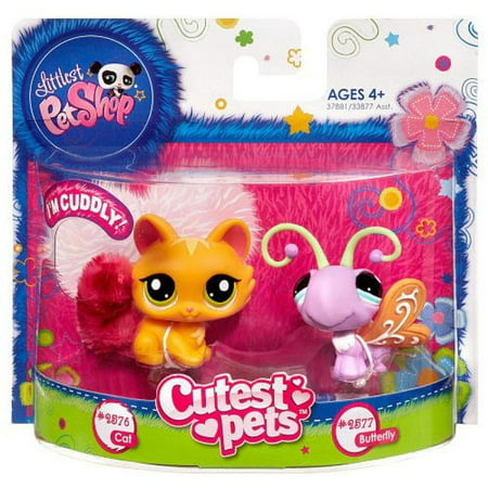 Littlest Pet Shop Cutest Pets Cat #2576 and Butterfly #2577](Butterfly Pets)