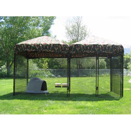 K9 Kennel Store 6' X 12' Welded Wire Complete Dog Kennel System Complete Dog Kennel System