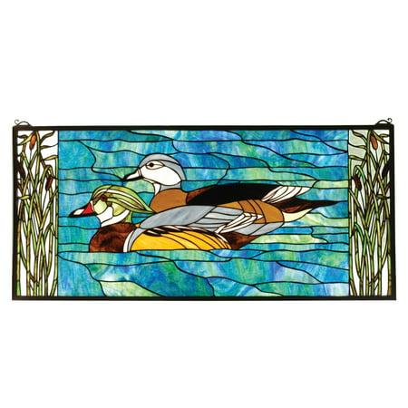Wood Ducks Window Panel ()