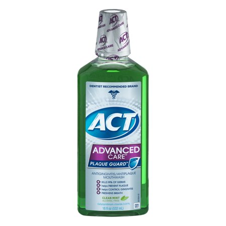 Act Advanced Care Plaque Guard Antigingivitis Antiplaque Mouthwash  18 Fl Oz