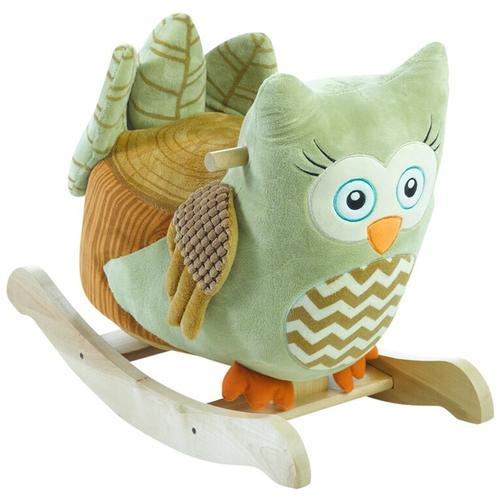 Rockabye 85051 Owliver Green Owl Rocker