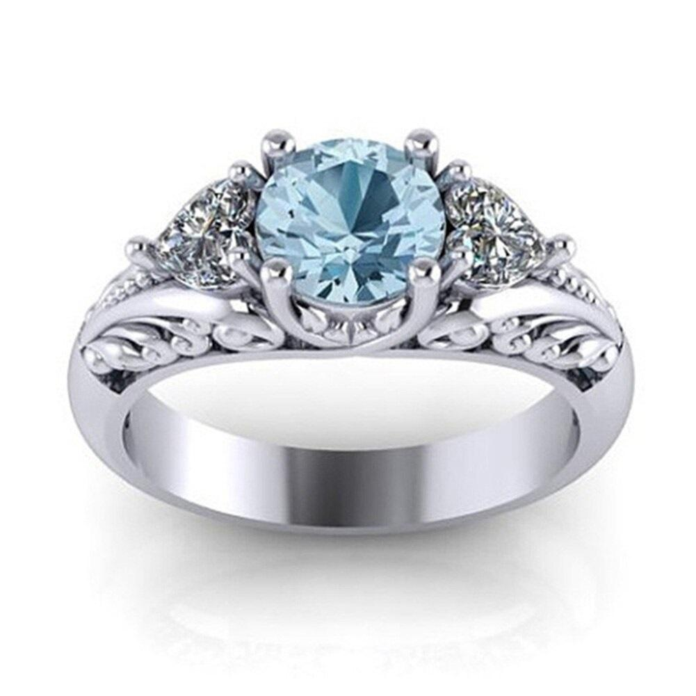 Details about  /Antique Round White Cubic Zirconia Ring Women Birthday Nickel Free Jewelry Gift