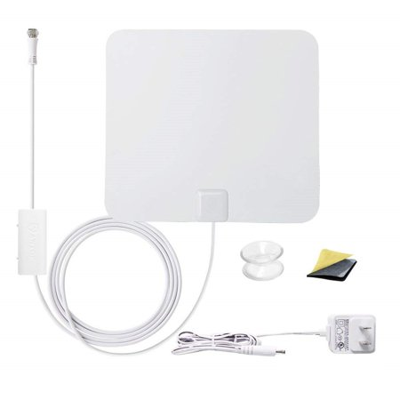 ANTOP AT-100B Paper Thin Indoor HDTV Antenna | Smartpass Amplified (Hdtv Thin)