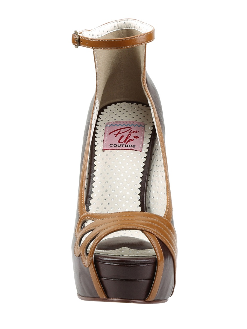 BELLA-31, 5 1/4'' Heel 1 1/2'' Platform Peep Toe Shoes