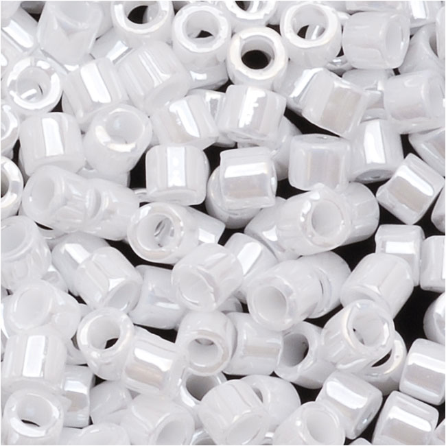 Miyuki Delica Seed Beads 10/0 Opaque White Pearl DBM0201 8 Grams