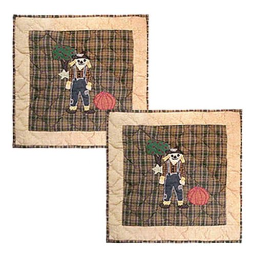 Patch Magic Four Seasons-Fall Cotton Throw Pillow (Set of 2)