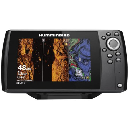 Humminbird 411080-1 HELIX 7 CHIRP Sonar G3N Dual Spectrum Combo Fishfinder/GPS/Chartplotter with MEGA Down & Side Imaging & 7