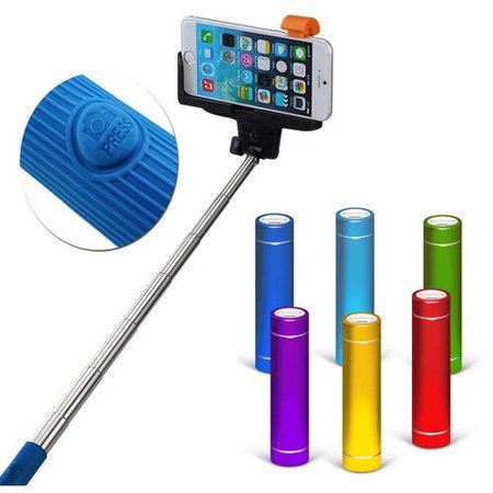 selfie anytime anywhere value bundle bluetooth shutter selfie stick external power pack. Black Bedroom Furniture Sets. Home Design Ideas