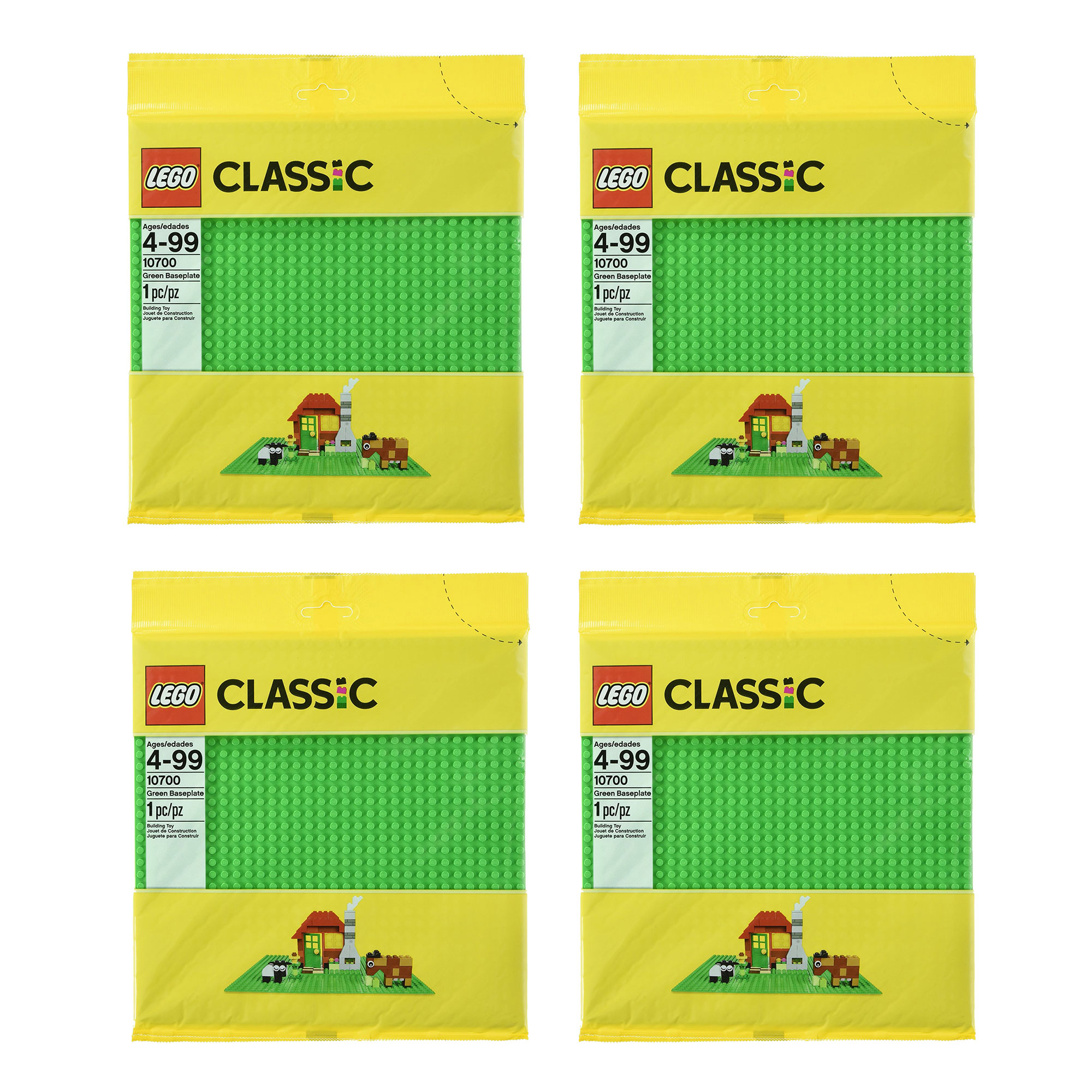 Peel and Stick Baseplates base plates for DIY playing Table Or Wall green+blue