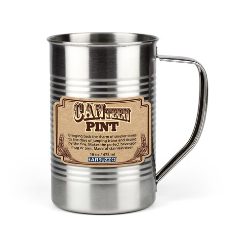 Click here to buy Barbuzzo CANteen Glassware 16 oz. Stainless Steel Pint Glass (Set of 2) by BARBUZZO.