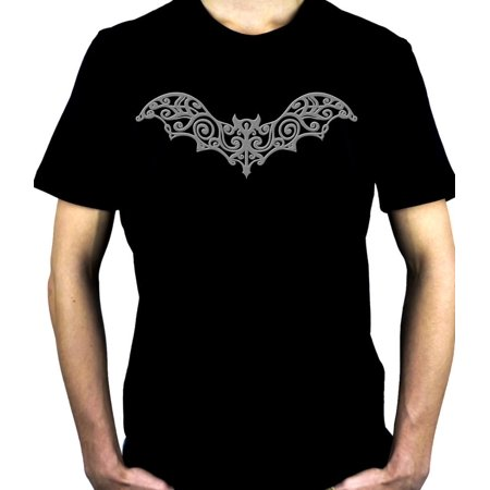 Wrought Iron Grey Bat Short Sleeve Shirt Gothic Vampire Clothing](Gothic Vampire Clothing)
