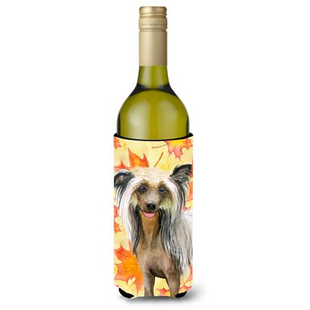 Carolines Treasures BB9920LITERK Chinese Crested Fall Wine Bottle Beverge Insulator Hugger - image 1 of 1