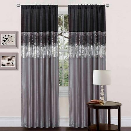 Night Sky Black/Gray Window Curtain