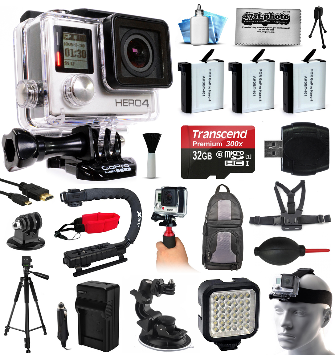 GoPro HERO4 Silver Edition 4K Action Camera with 32GB Mic...