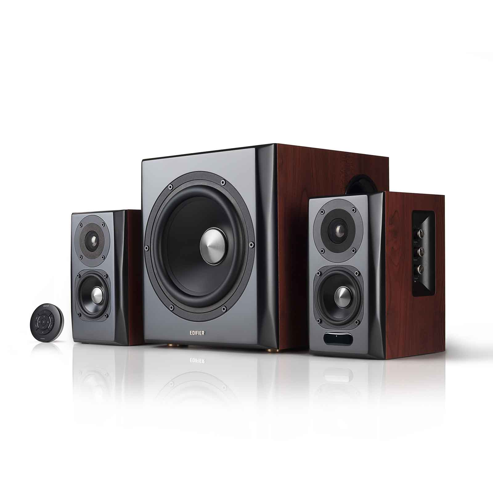 Edifier S350DB Bookshelf Speaker And Subwoofer 21 System Bluetooth V41 AptX Wireless Sound For Computer Rooms Living Dens