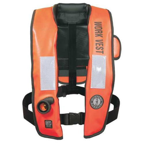 MUSTANG SURVIVAL MD3188 Inflatable Workvest, HIT
