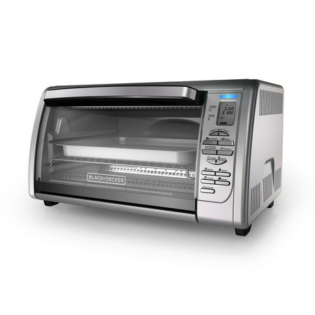 BLACK+DECKER Countertop Convection Toaster Oven, Stainless Steel, CTO6335S Commercial Stainless Steel Oven