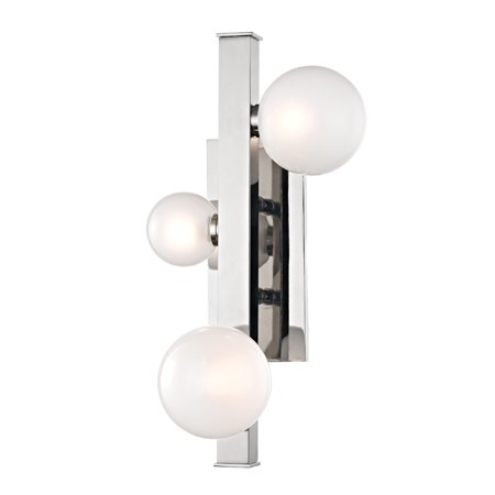 Hudson Valley Mini Hinsdale 3 Light LED Wall Sconce, Polished Nickel - 8703-PN
