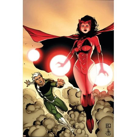 The Mighty Avengers No.24 Cover: Scarlet Witch and Quicksilver Print Wall Art By Khoi Pham